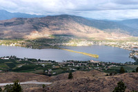 Osoyoos Lake from Anarchist Mountain