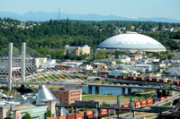Foss Waterway Bridge & The Tacoma Dome