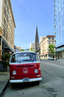 Volkswagen Bus on SW 12th Avenue